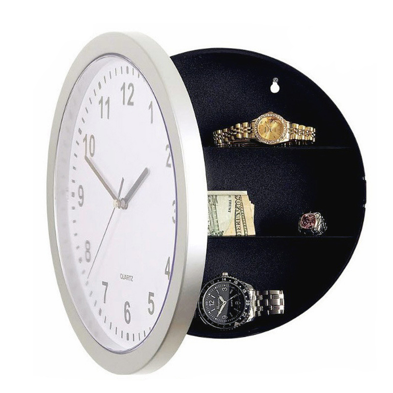 white clock hidden safes wall safe clock cash storage box strore your