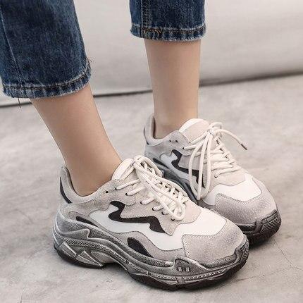 Chaussures Sauvage Nouvelle Femmes Fond De 2018 Mode Velours Vieux 1 Ins Plus Épais Feu Super 2 Dames qEpFw0BU
