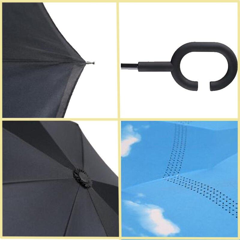 cca93e722b1b9 Yesello Folding Reverse Umbrella Double Layer Inverted Windproof Rain Car  Umbrellas For Women – Siberdeals