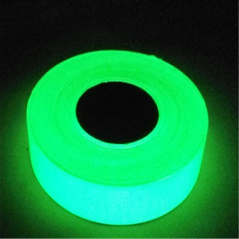 1 PC Verde Nastro Luminoso Glow in The Dark di Sicurezza Nastro di Auto-adesivo Striscia Fosforescente Luminoso Nastro di Avvertimento