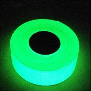 1PC Green Luminous Tape Glow in The Dark Tape Safety Self-adhesive Strip Phosphorescent Luminous Warning Tape(China)