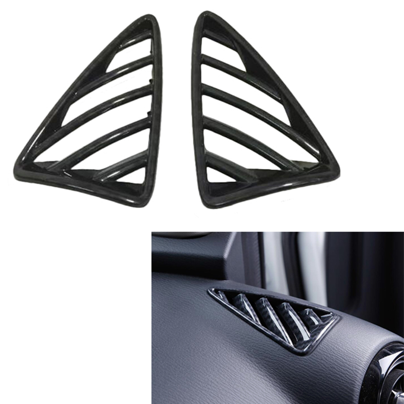 2017 2018 For Mazda CX-3 CX3 Carbon Fiber Look Upper Air Vent Outlet Cover Trim