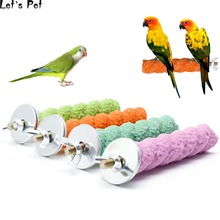 Let's Pet цветная клетка для домашних птиц 2*8/2*16 лапа шлифовальный попугай окунь Стенд Платформа Горячая