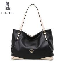Foxer WOLSEY 2016 New Women Messenger Bag Famous Designers Genuine Leather Handbags Large Capacity Women Bags Shoulder Tote Bags