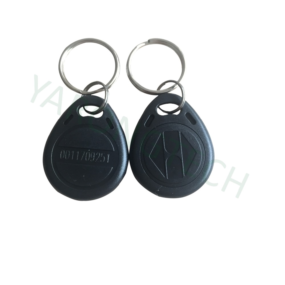 Proximity Tag RFID 125khz Access Control Key Fobs Read Only Black Color ABS Waterproof -10pcs/lot