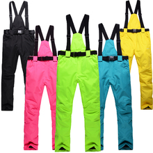 cheap Belt pant unsex Woman/Man Snow trousers outdoor snowboarding or skiing pant windproof warm winter snow ski strap pant bibs