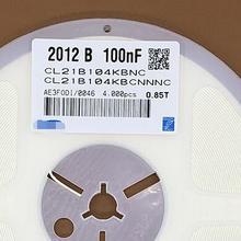 4000 шт./лот 0805 100nF 0,1 мкФ 0.1MF 104K CL21B104KBCNNNC 0805 с алюминиевой крышкой, 50В 100NF 10% X7R и предохранитель