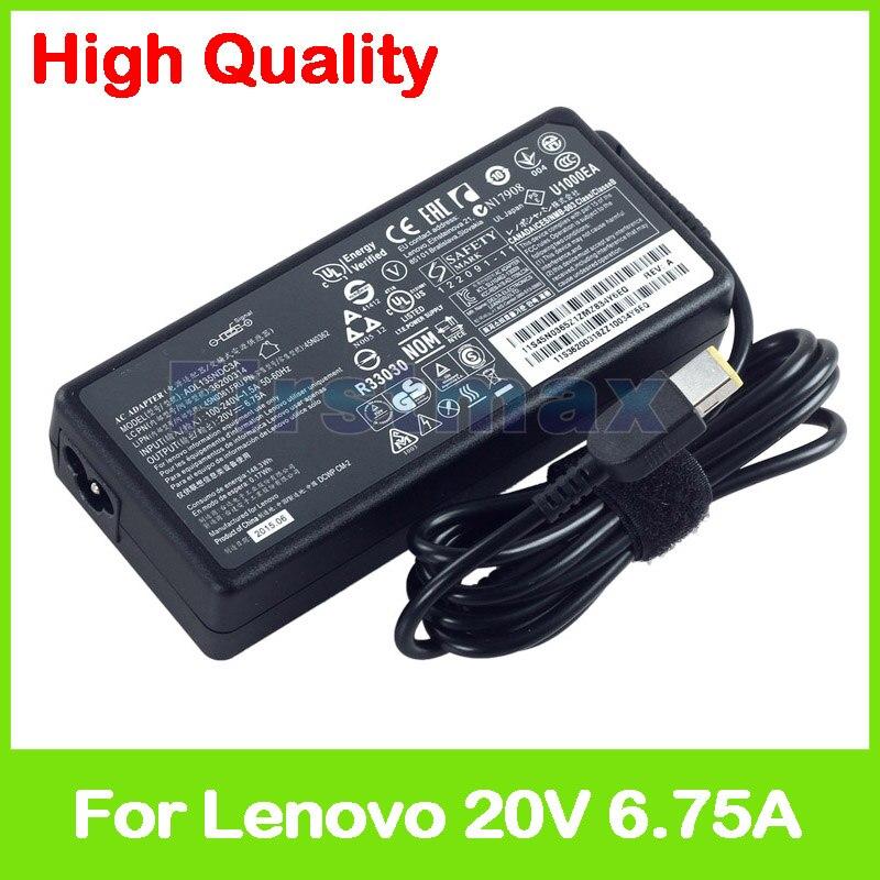 Slim 20V 6.75A laptop charger ac power adapter for Lenovo Legion Y520-15IKB Y720-15IKB 36200609 45N0362 45N0364 45N0365 45N0366