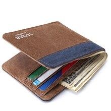купить brand Wallet men leather men wallets purse short male clutch leather wallet mens money bag quality guarantee по цене 719.7 рублей