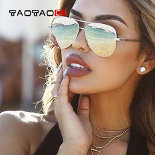 TAOTAOQI Fashion Oversized Pilot Sunglasses Women UV400 Retro Brand Designer Big Frame Sun Glasses For Female Ladies Eyewear