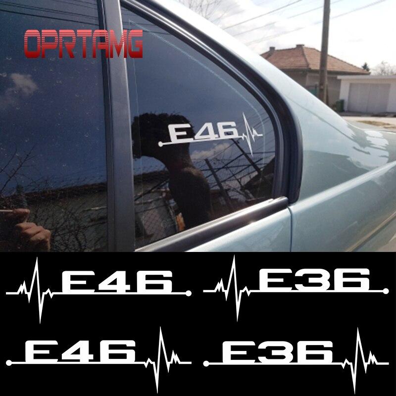 car-styling 2pcs/lot M power performance for BMW E34 E36 E39 E46 E60 E61 E62 E90 E91 E92 LOGO car windows sticker accessories 2pcs lot 24 smd car led license plate light lamp error free canbus function white 6000k for bmw e39 e60 e61 e70 e82 e90 e92