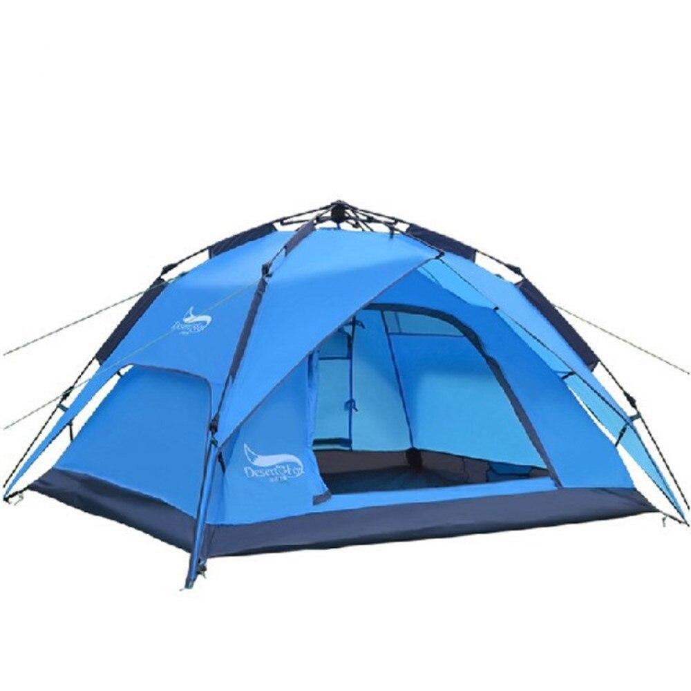 Außen 3-4 personen doppel-schicht automatische zelt regendicht camping zelt kostenloser montage camping zelt camping camping liefert