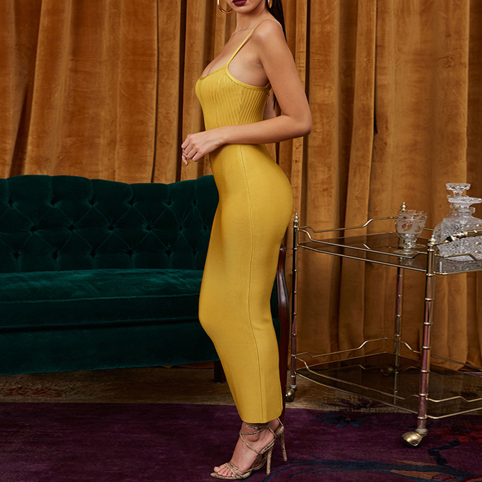 Adyce Bodycon Summer Bandage Dress Women Vestido 2019 Sexy Spaghetti Strap Sleeveless Maxi Club Celebrity Evening Party Dresses