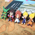 Anime Cartoon Dragon Ball Z Son Goku Vegeta PVC Figure Keychains Pendants Toys 5pcs/set ANPD1896