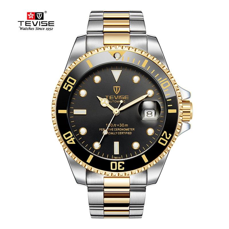 где купить Tevise Top Brand Men Mechanical Watch Automatic Role Date Fashione luxury submariner Clock  Male Reloj Hombre Relogio Masculino по лучшей цене