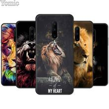 Black Soft Case for Oneplus 7 7 Pro 6 6T 5T Silicone TPU Case for Oneplus 7 7Pro Phone Cover Shell king tiger lion