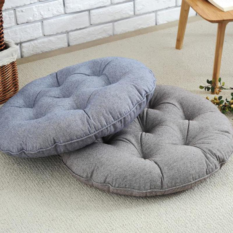 round futon chair cushion lift sam s club 55*55 cm large size 100% cotton seat futon/yoga /floor/tatami/chair cushions ...