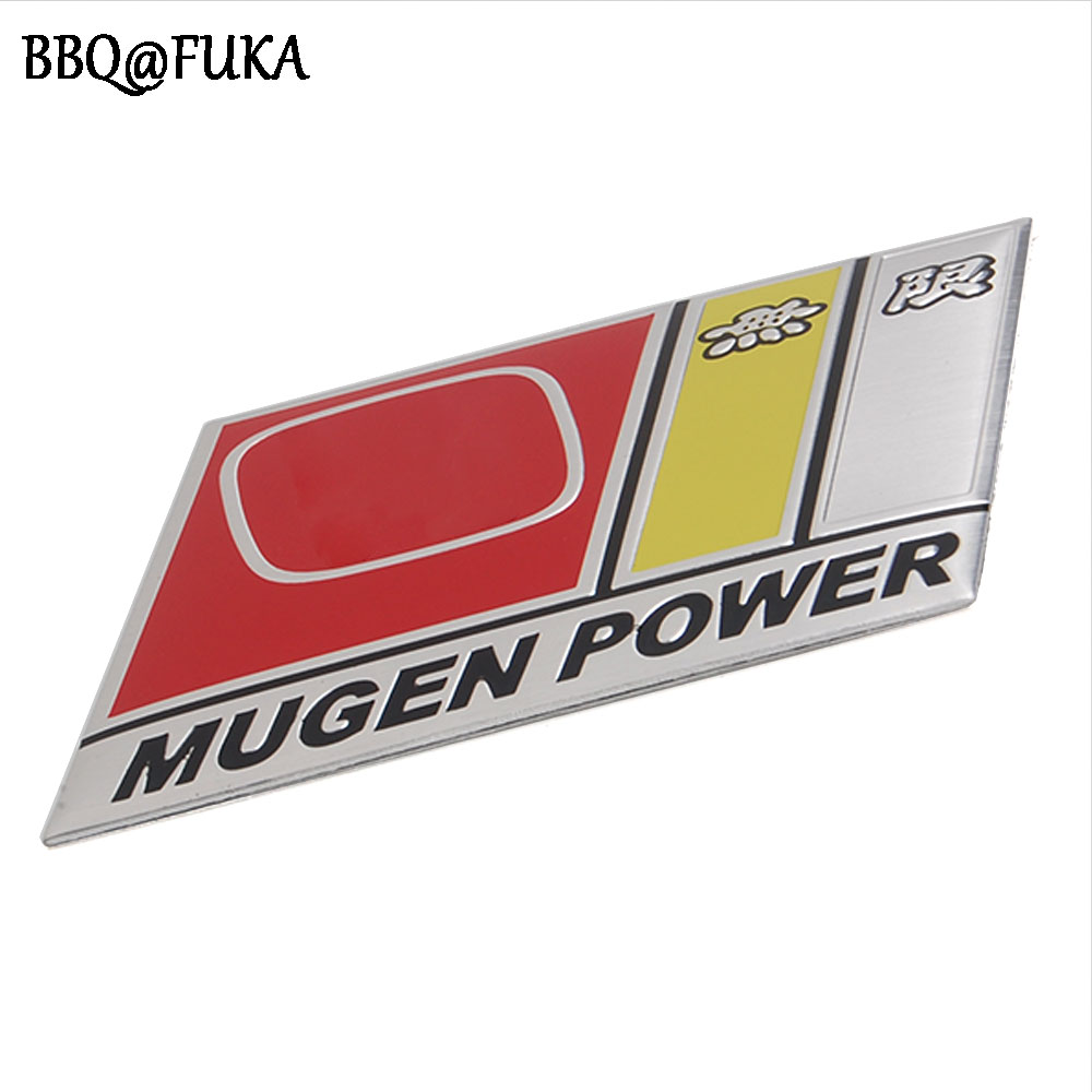 BBQ@FUKA MUGEN Power Sticker 3D Metal Emblem Badge Logo Fit for Honda Civic Accord Car Styling Sticker bbq fuka rear trunk shade cargo cover fit for 2011 2013 ford edge black