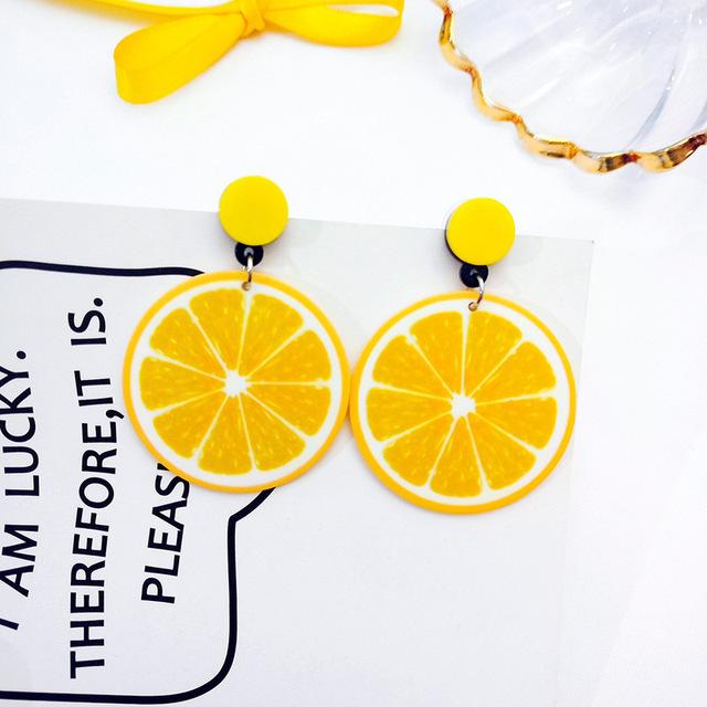Yellow Summer Dangle Earrings