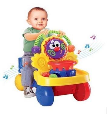 Música combo multifunción cochecito andador andador andador jinete con empujar juguetes educativos para niños