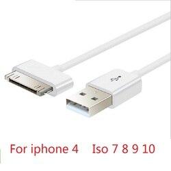 90cm 30pin kabel USB do transmisji danych dla Apple synchronizacji danych 30pin USB kabel dla iPhone 4 4S ipad 1 2 3 itouch4 kabel do ładowania|Kable zasilające|Elektronika użytkowa -
