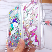 Cute Unicorn Liquid Sand case N. 2 for Huwaei Honor