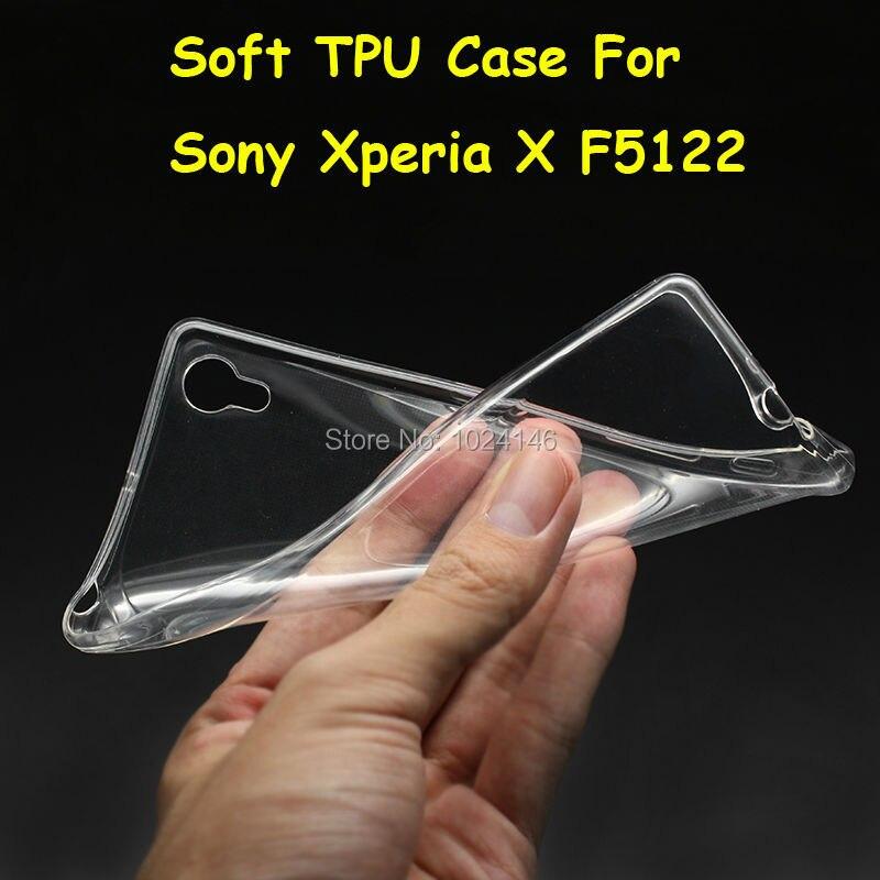 Новый тонкий кристалл прозрачный мягкой ТПУ задняя крышка защиты кожи для Sony Xperia X F5122 f5121 5.0 дюймов