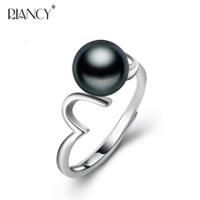 Fashion wave pearl ring women party gift,real white black natural freshwater