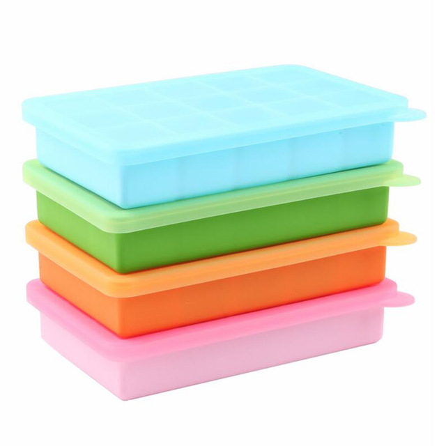 15 Grids BPA Free Baby Food Storage Container Box Platinum Silicone Baby Food Supplement Ice Cube  sc 1 st  AliExpress.com & 15 Grids BPA Free Baby Food Storage Container Box Platinum Silicone ...
