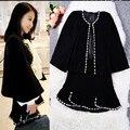 15 new winter small fragrant hand rivet cloak coat skirt suit ladies temperament direct