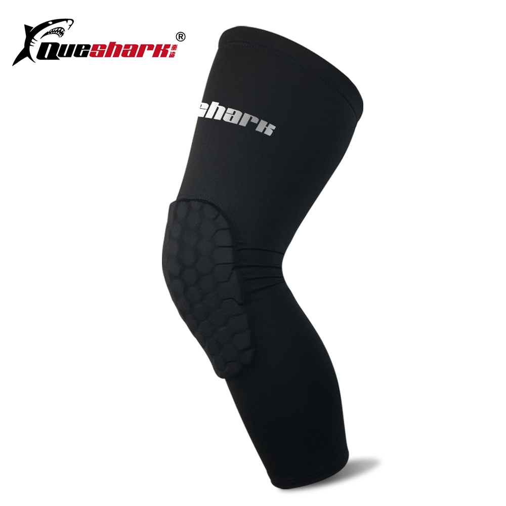 1 Pcs Honeycomb Basketball Knee Pads Sports Running Football Leg Sleeves Legwarmers Calf Compression Knee Protection