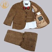 Nimble costume enfant garcon mariage boys blaz Corduroy England Style Three Pieces Suit Kids Wedding jogging garcon Party Cloth