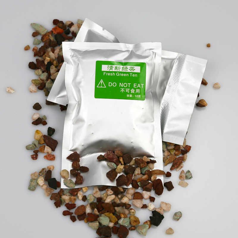 Ambientador zeolita Perfumes naturales piedra aire acondicionado Salida de perfume Clip botella de vidrio Perfume suplemento de piedra