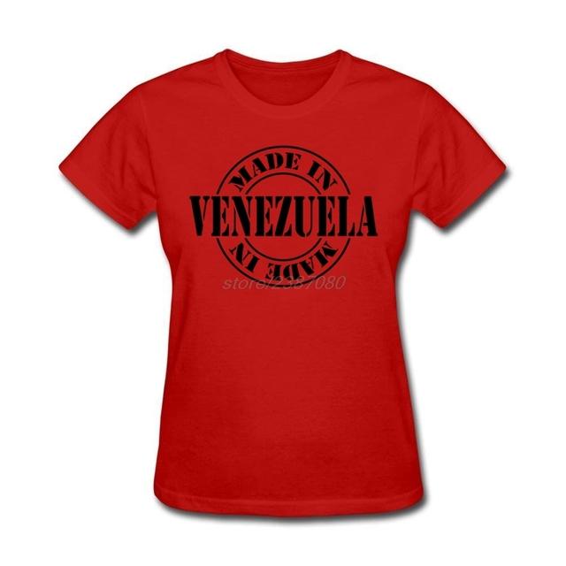 Hecho en venezuela de Manga Corta Camisas Camisas de Algodón Orangic Femmes Mujeres Al Por Mayor T Shirt Creador