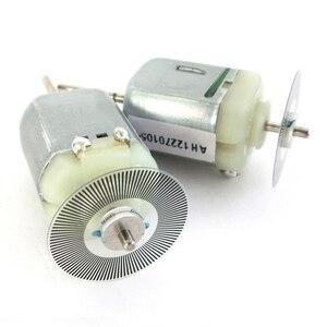 Углеродная счетка модель 130 микро-3-6 В постоянного тока мотор Скорость кодер двойной Выход вал немой мотор 3,7 V 2300 об./мин.