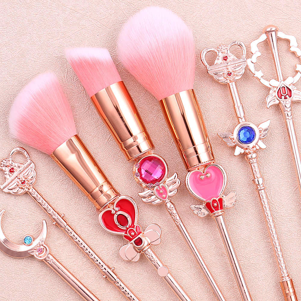 Klasik Anime Sailor Moon Makeup Pakaian/Kuas Makeup Wanita Gadis Hadiah Shading Kontur Foundation Bubuk Blush Shader Brush Tool