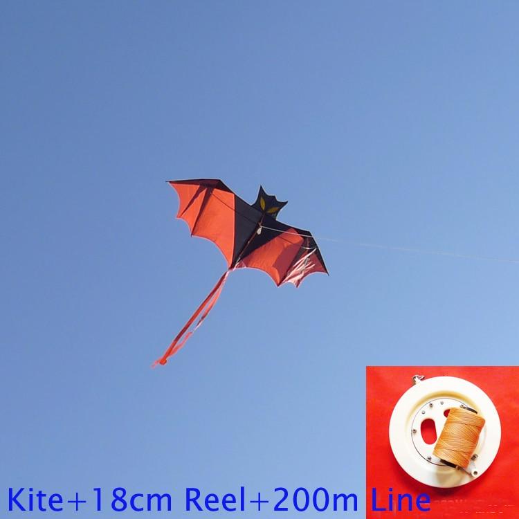 անվճար առաքում բարձրորակ թռչող չղջիկ ուրուր `բռնակի գծով բացօթյա թռչող խաղալիք նեյլոնե ripstop երեխաներին ուրուր ճամփորդել ութոտնուկ