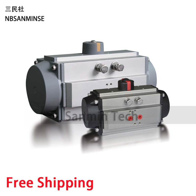 AT Double-Action Air Torque Ball Valve Butterfly Valve Pneumatic Actuator Equipped Valves High Quality Sanmin