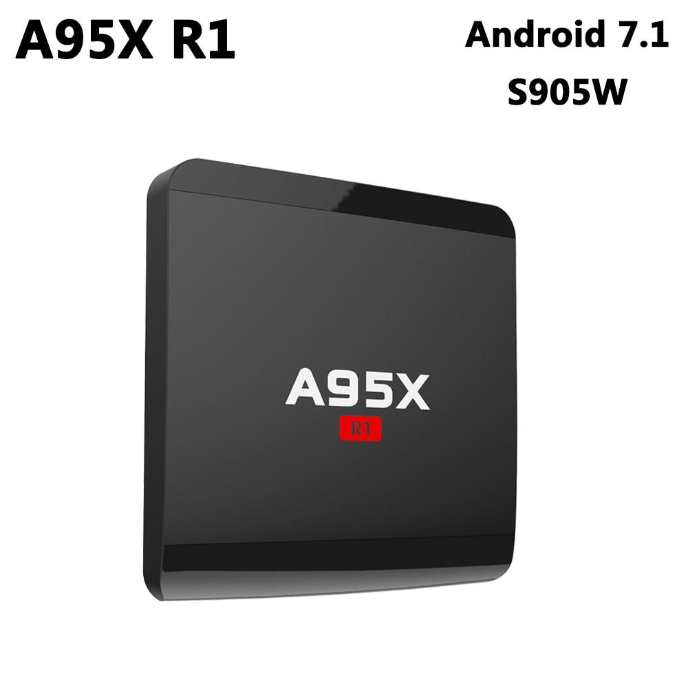 A95X R1 Amlogic S905W Quad Core Android 7.1 TV Box 2GB DDR3 16GB ROM 4K HD Media Player 2.4GHz Wifi Smart Set Top Box PK X96 TX3