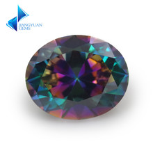 Size 3x5mm~10x12mm Plating Mix Color Multicolor Cubic Zirconia Oval Cut Loose CZ Stone Synthetic Gems