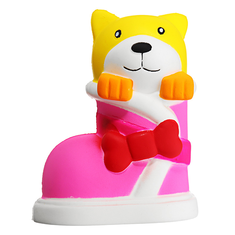 13.5cm Cute Shoe Dog Jumbo Phone Strap Decoration Slow Rising Soft Toy Relief Stress Funny Children Toys