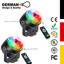 [2-Pack] Mini 7 Colors RGB Disco LED Crystal Magic Ball Stage Lamp Sound Activated Laser Projector Party Disco Club DJ Light disco collection 2 cd