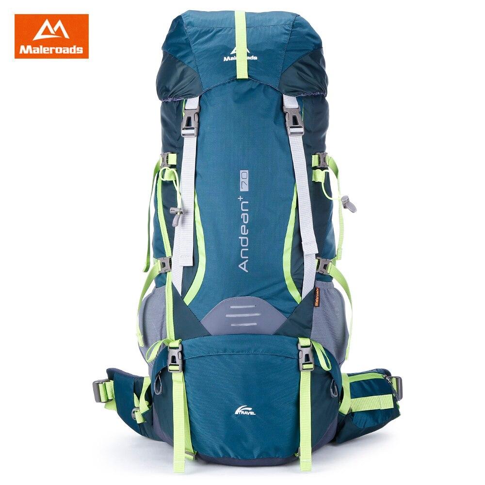 Maleroads 70L водонепроницаемость открытый спортивная сумка-рюкзак Пеший туризм кемпинг сумки Рюкзаки Нейлон велосипед рюкзак сумка