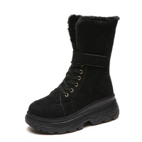 Whoholl Classic Women Snow Boots Short Leather Winter Shoes Boot With Black Chestnut Women S Fur