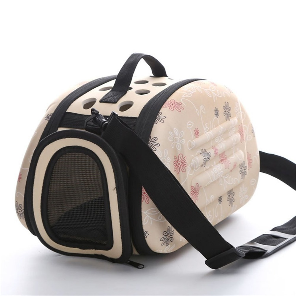 Ship from RU Floral High Quality Soft EVA Portable Foldable Travel Shoulder Pet Bag Breathable Outdoor Carrier Pet Bag S/M/L