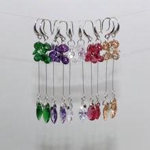 Женские разноцветные модные серьги с фианитом длинные висячие