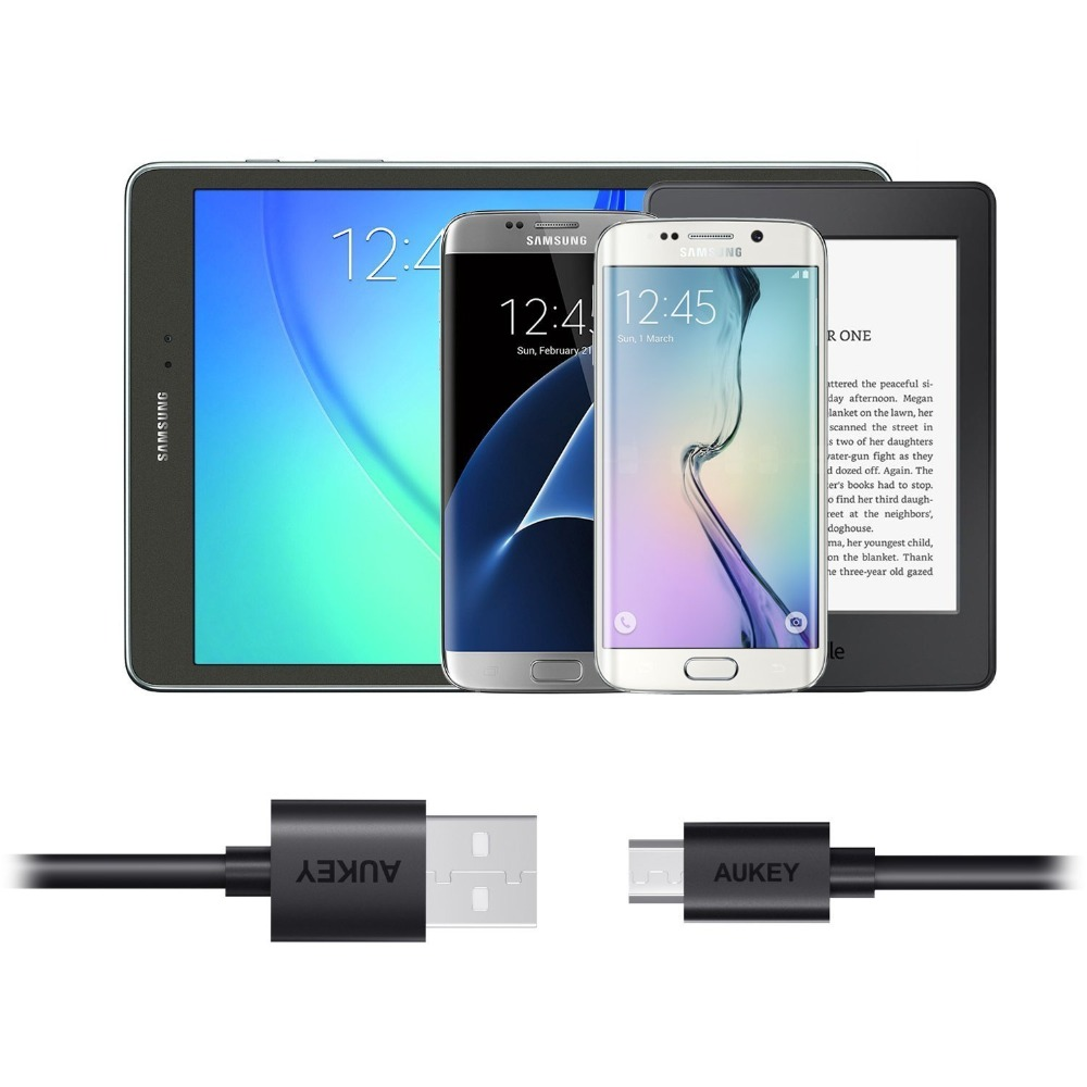 AUKEY 3/5 PACK Micro USB кабель 2A быстро Зарядное устройство USB кабель для передачи данных телефон зарядный кабель для samsung Xiaomi huawei android-планшет кабель