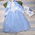 Christmas Girls Elsa Dress Princess Fever dresses frock Designs Shawl Vestido Costume disfraz infantile For 2 4 6 8 10 12 Years