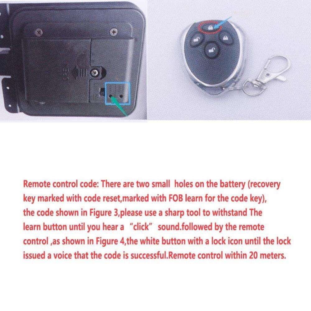 Black Keyless RV Entry Door Lock-7