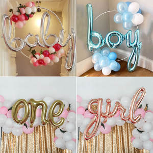 GIHOO Balloons Baby Letter-Foil Shower Birthday-Party-Decoration Air-Globos Rose-Gold